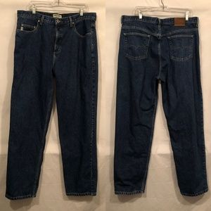 Guess Mens Jeans Size 38 x 32 Blue Dark Straight